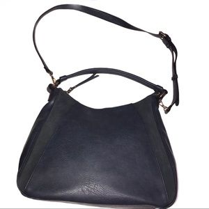 Sole Society Navy Blue Faux Leather Hand Bag -NWOT